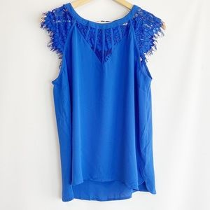 Brixon ivy lace detail top M